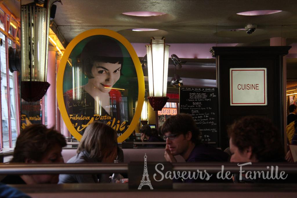 """Poster of the """"Fabuleux Destin d'Amélie Poulain"""" inside the Café"""