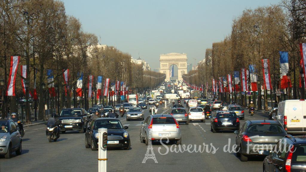 The Champs Élysées Boulevard