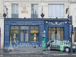Entrance to the restaurant of La Tour D'Argent