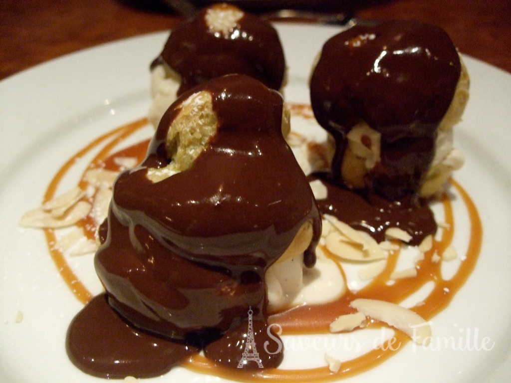 Profiteroles at the Chez Papa bistro