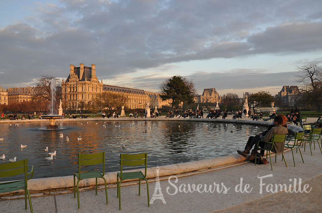 The big water basin in the Jardin des Tuileries