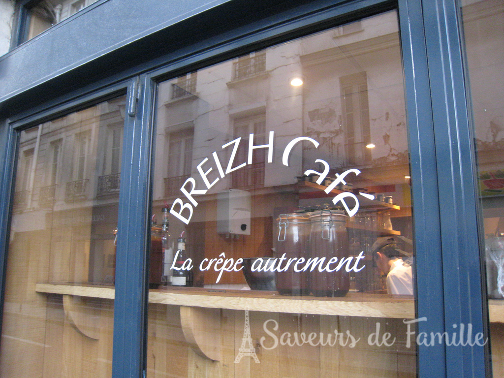 Window of the Breizh Café in Paris (Photo by Cody and Maureen@Flickr)
