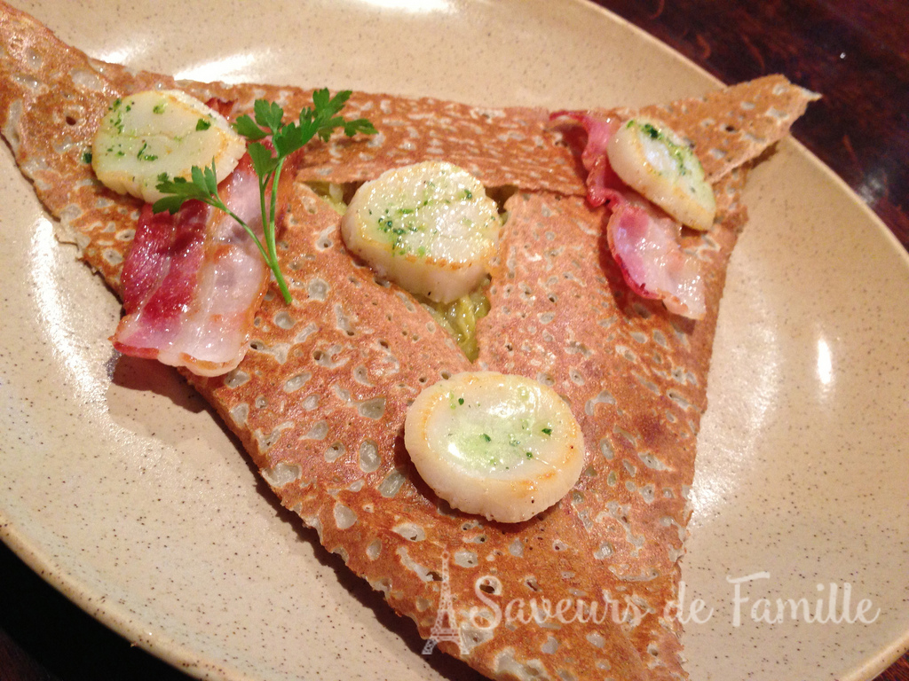 A delicious savory galette