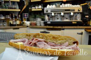 A delicious sandwich at Le Petit Vendome