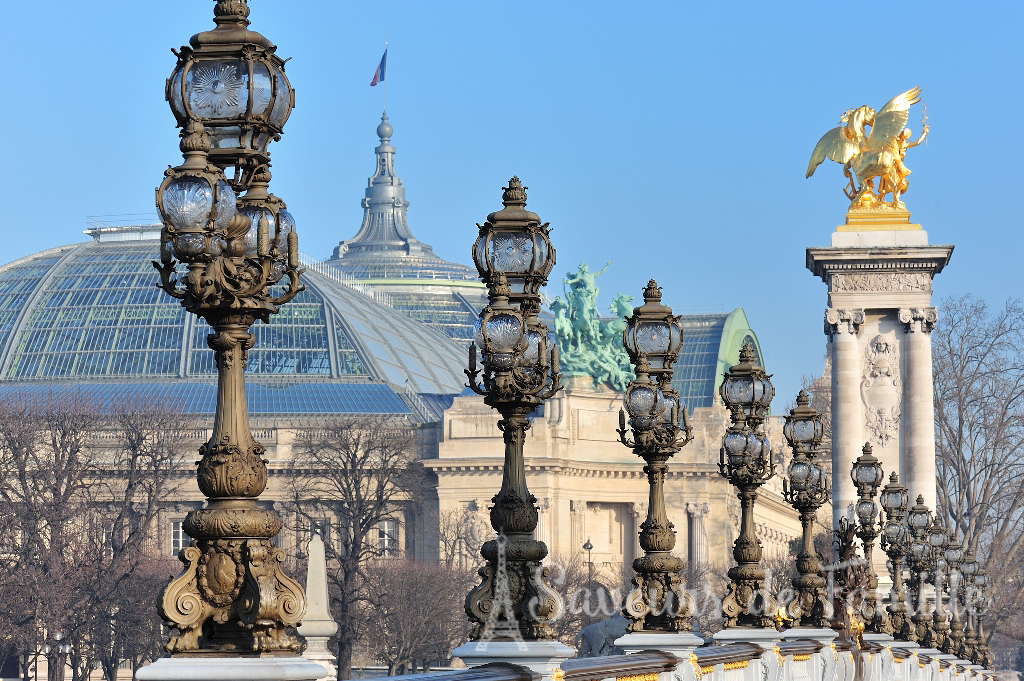 The Grand Palais as seen from the Alexandre III bridge