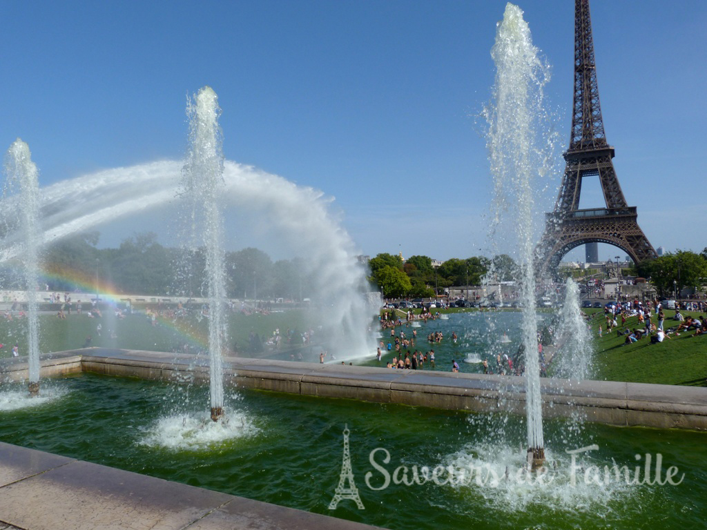 View of the Eiffel Tower from the Jardins de Trocadero